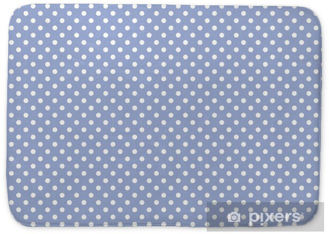 Polka Dots On Baby Blue Background Retro Seamless Vector Pattern