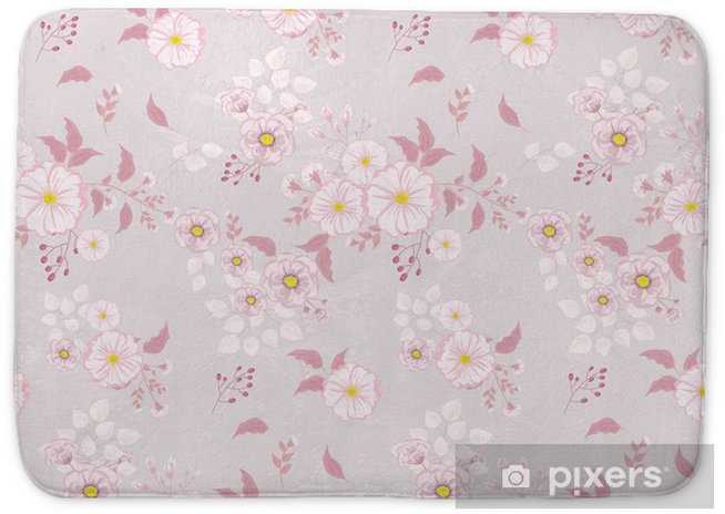 Seamless Floral Pattern Background In Small Pink Flowers On A Light