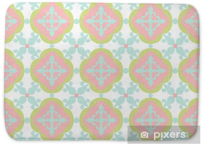 Seamless pattern. Portuguese, Moroccan, Spanish tile. Bath Mat - Graphic Resources