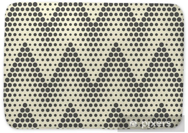 Seamless Zigzag Pattern. Abstract Monochrome Dots Background. Vector Regular Texture Bath Mat - Graphic Resources