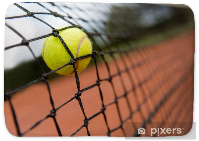 Tennis Ball Bouncing On The Net Bath Mat Pixers We Live To Change