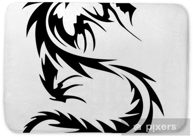 Tribal Dragon Tattoo Bath Mat Pixers 174 We Live To Change