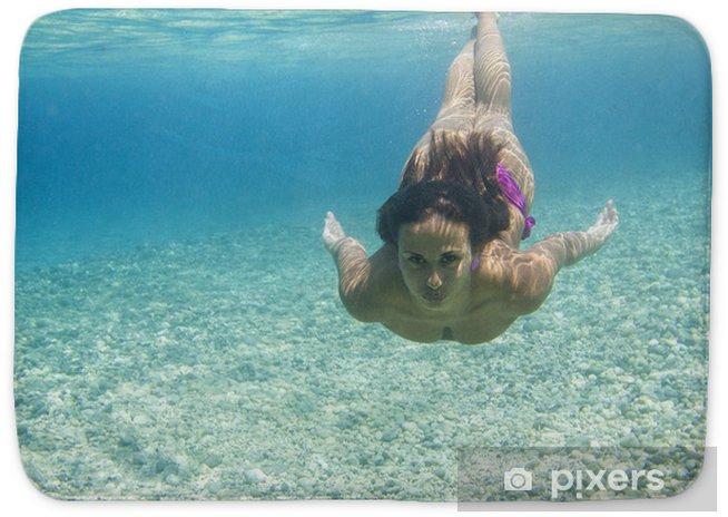 Underwater Woman Bath Mat Pixers 174 We Live To Change