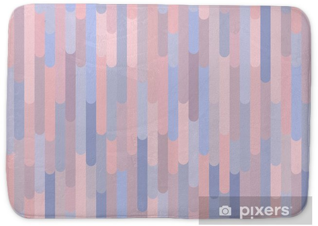 Vertical stripes vector seamless pattern. Background texture in trendy colors 2016: rose quartz & serenity, soft pink & light blue. Decorative design element for print, card, banner, cover, invitation Bath Mat - Graphic Resources