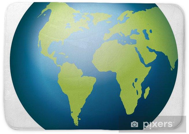 Globus Weltkugel Karte.Weltkugel Weltkarte Landkarte Globus Karte 3 Bath Mat