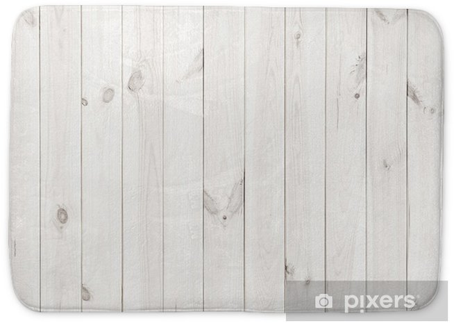 White Wood Texture Background Wooden Table Top View Bath Mat