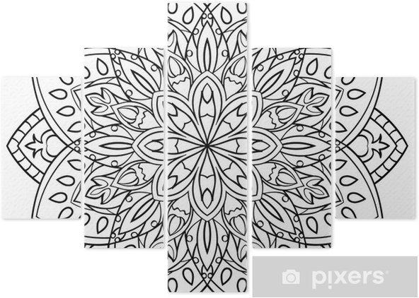 Boyama Kitabı Için Mandala Beş Parçalı Pixers Haydi Dünyanızı