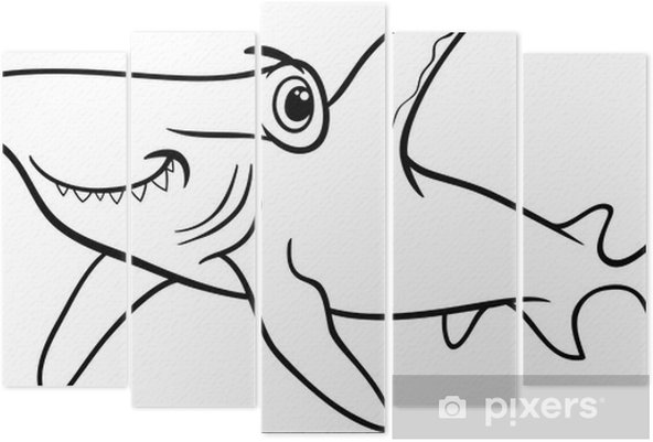 çekiç Köpekbalığı Boyama Kitabı Beş Parçalı Pixers Haydi