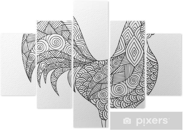 Yetişkin Boyama Kitabı Sayfa Tasarımı Beş Parçalı Pixers Haydi