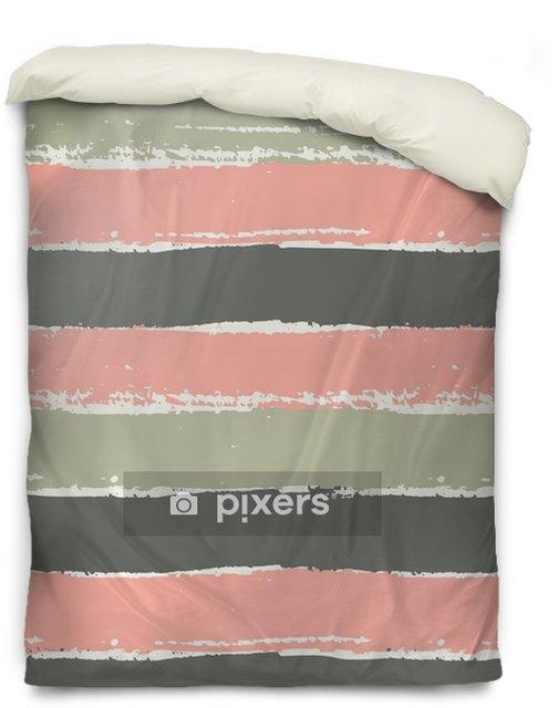 Bettbezug Hand gezeichnetes gestreiftes nahtloses Muster - Grafische Elemente