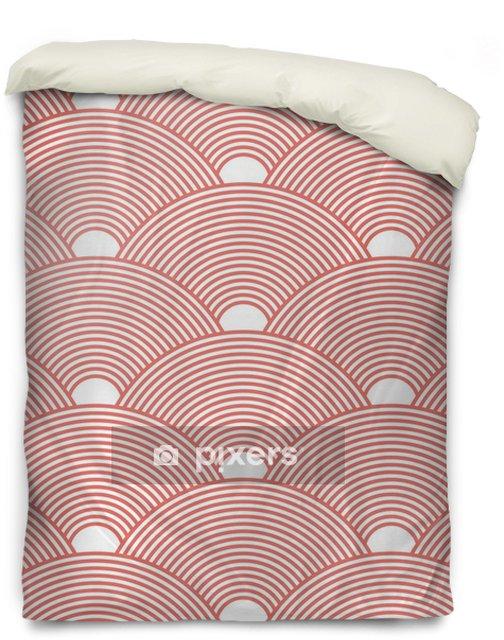 Bettbezug Nahtloser roter dichter asiatischer Mustervektor - Grafische Elemente