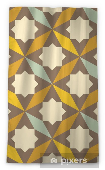 abstract retro geometric pattern Blackout Window Curtain - Abstract