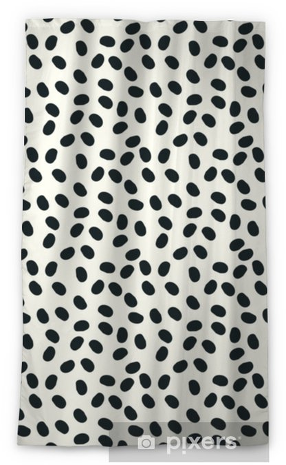 black and white dots vector seamless repeapt background Blackout Window Curtain - Graphic Resources