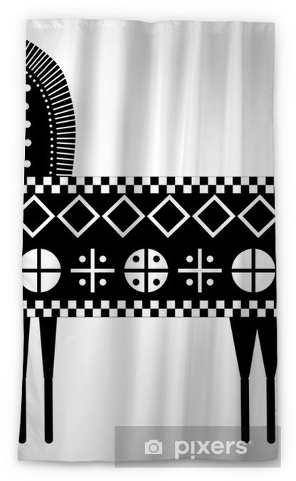 Cavallo sardo stilizzato su bianco blackout window curtain for Cavallo stilizzato