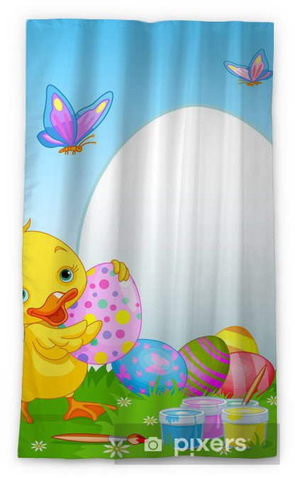 easter duckling painting easter eggs blackout window