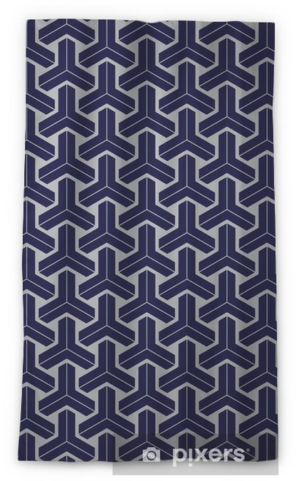 Japanese geometric seamless pattern design texture Blackout Window Curtain - Graphic Resources