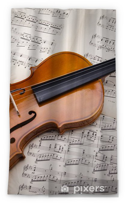 Old violin background Blackout Window Curtain