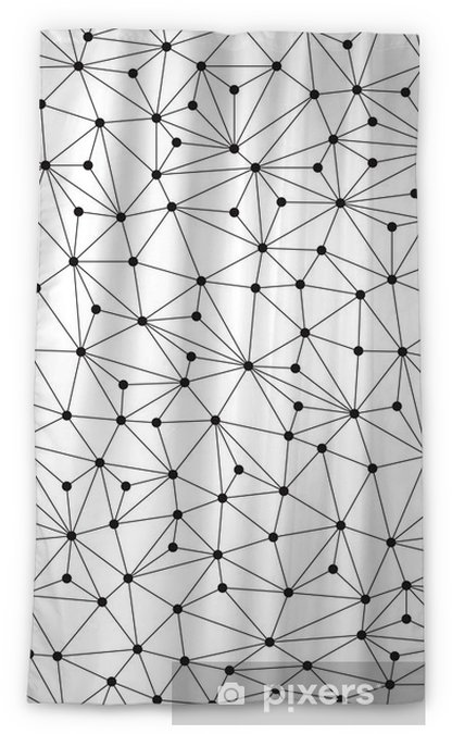 Polygonal background, seamless pattern, lines and circles Blackout Window Curtain - Technology