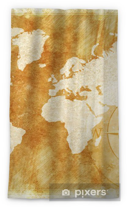 Rustic World Map Blackout Window Curtain Pixers We Live To Change