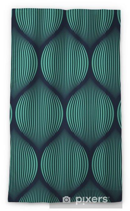 Seamless neon blue optical illusion woven pattern vector Blackout Window Curtain -
