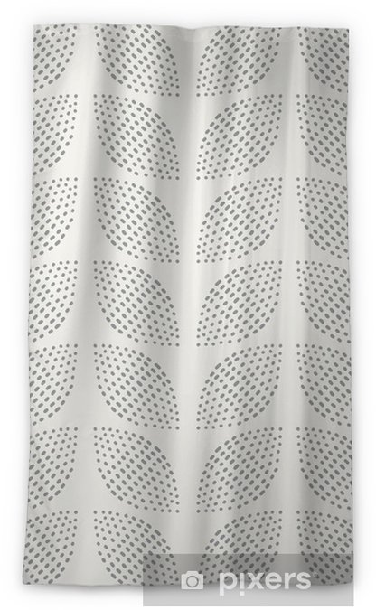 Seamless Pattern. Hand Drawn. Flower. Background design Blackout Window Curtain - Backgrounds