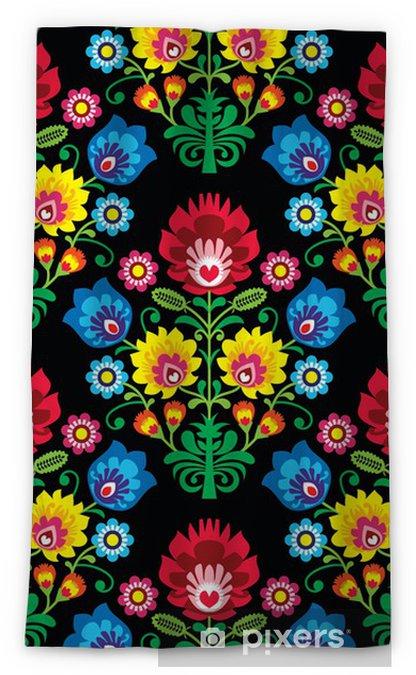 Seamless Polish folk art floral pattern - wzory lowickie Blackout Window Curtain - Styles