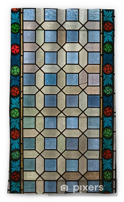 Stained Gl Window Of Colored Blackout Curtain