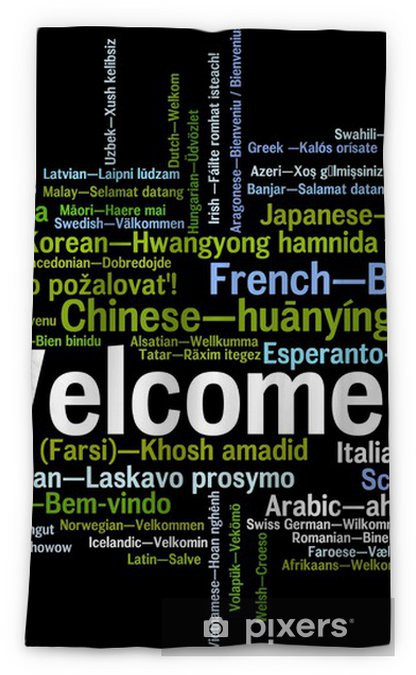 welcome word cloud Blackout Window Curtain