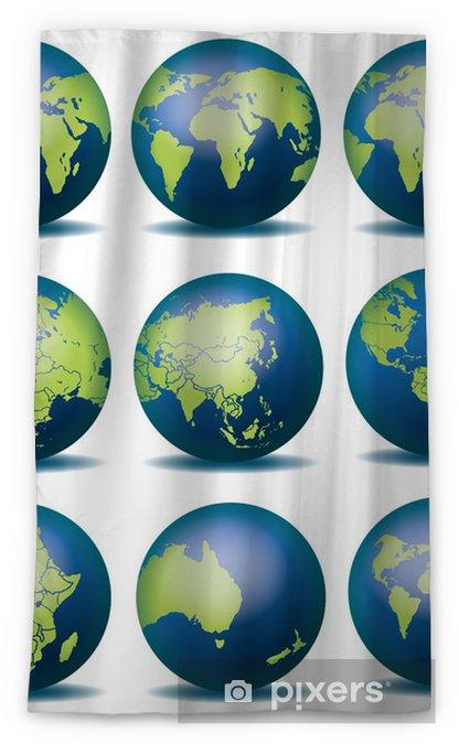 Globus Weltkugel Karte.Weltkugel Weltkarte Landkarte Globus Karte 4 Blackout Window Curtain