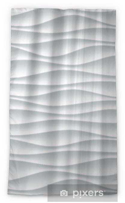 White wave pattern background with seamless wave wall texture  Vector  trendy ripple wallpaper interior decoration  Seamless 3d geometry design