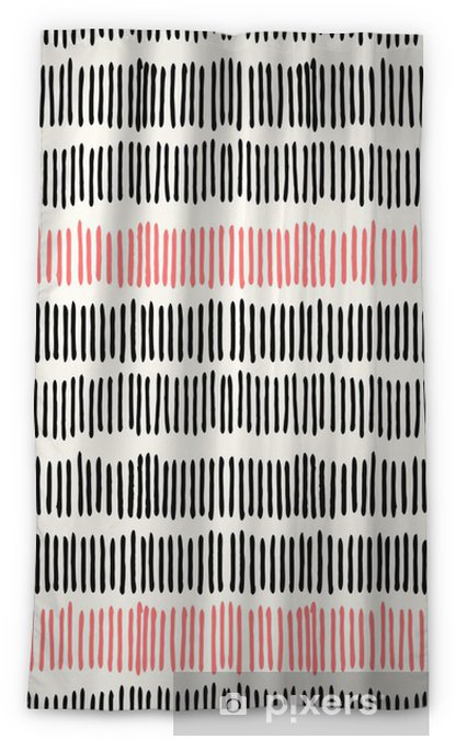 Blickdichter Fenstervorhang Abstract lines seamless pattern. - Stile