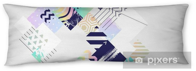 Abstract colorful geometric composition Body Pillow - Graphic Resources