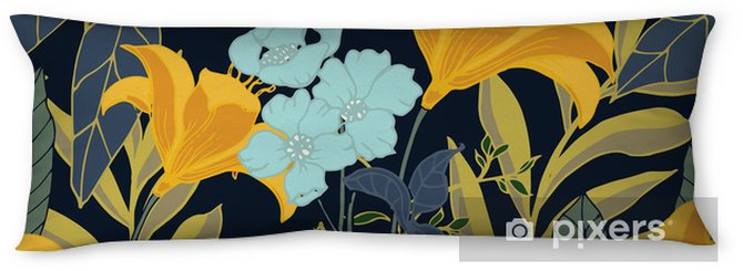 Abstract elegance pattern with floral background. Body Pillow - Plants and Flowers