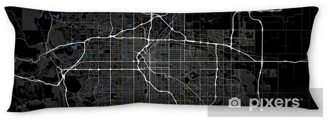 Black and white map of Denver city. Colorado Roads Body Pillow - Travel