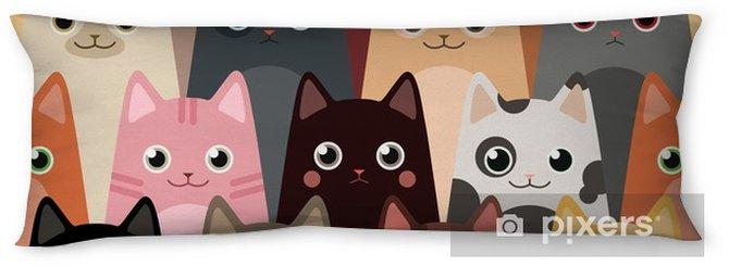 cats cartoon vector seamless wallpaper body pillow