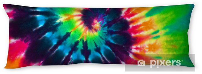 823af73ffa28 close up shot of colorful tie dye fabric texture background Body Pillow