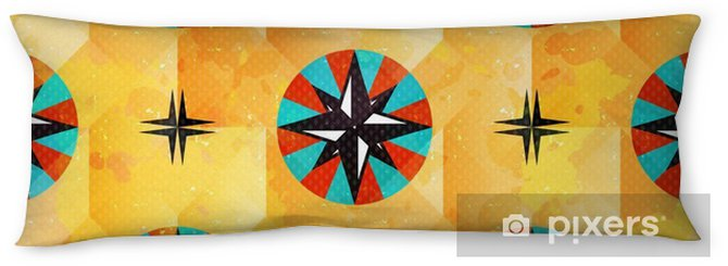 color beautiful abstract seamless pattern maritime symbols Body Pillow - Graphic Resources