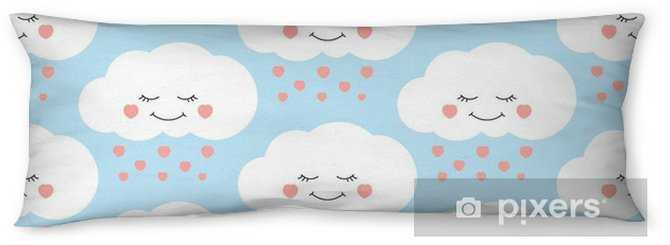 cute baby cloud pattern vector seamless children print with clouds
