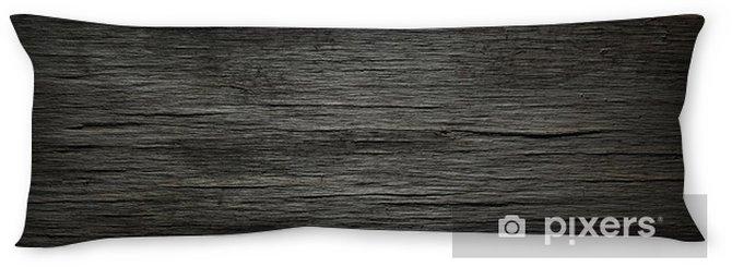 Dark wood background Body Pillow - Themes