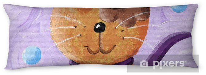 Funny cat wearing top hat Body Pillow - Animals