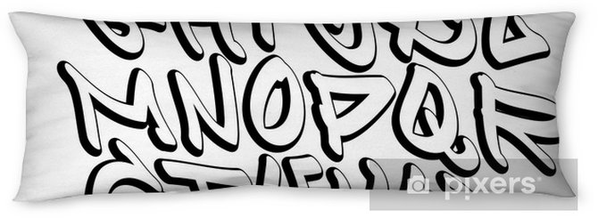 Graffiti font alphabet letters  Hip hop type grafitti design Body Pillow
