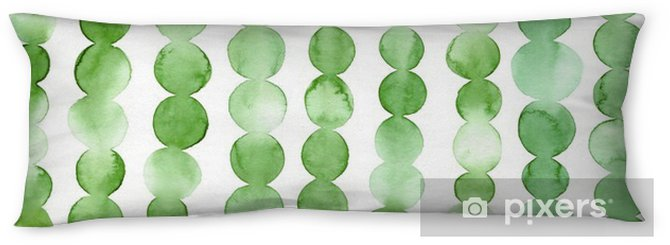 Green Dots Body Pillow - Graphic Resources
