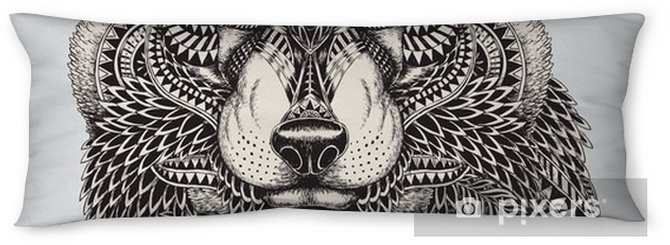 Highly detailed abstract wolf illustration Body Pillow - Styles