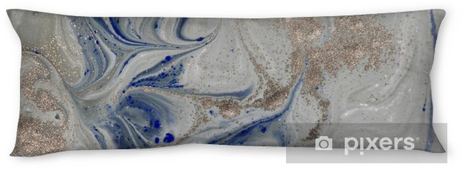 Marble abstract background with golden powder. Nature texture. Body Pillow - Graphic Resources