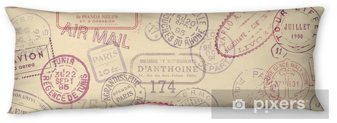 postage themed background with vintage stamps (tiling) Body Pillow - Styles
