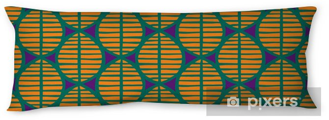 Primitive seamless floral pattern with leaves. Tribal ethnic background, simplistic geometry, vibrant tropical tones. Textile design. Body Pillow - Graphic Resources