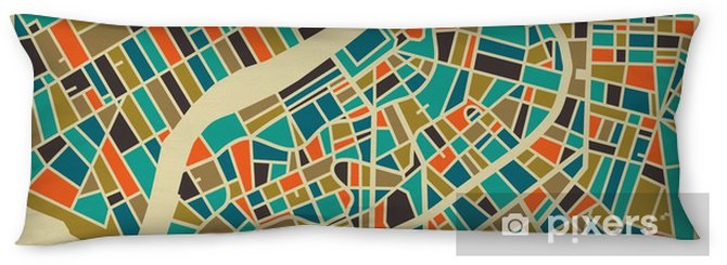 Saint Petersburg vector map. Colourful vintage design base for travel card, advertising, gift or poster. Body Pillow - Travel