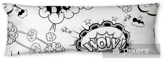 seamless pattern comic speech bubbles sound effects cloud explosion
