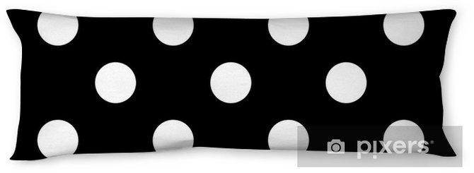 Seamless polka dot black and white Body Pillow - Graphic Resources