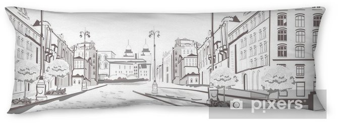 Series Of Street Views In The Old City Sketch Body Pillow Pixers We Live To Change